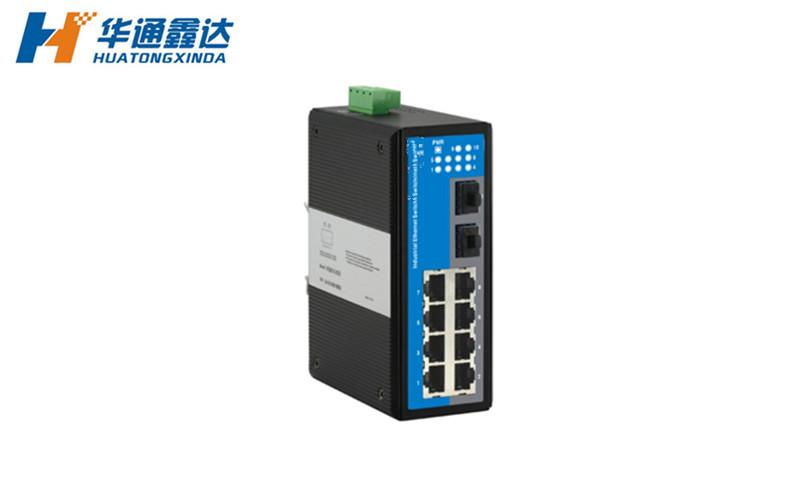 2光8电环网型工业以太网交换机