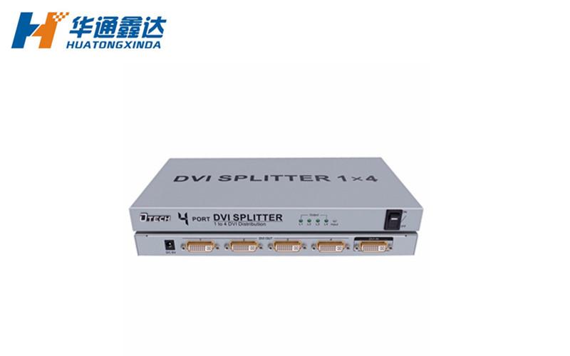 DTECH帝特DT-7024 DVI分配器1分4 1进4出线显示器分屏器一进四出分频器