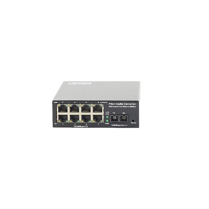 武汉FC1008F两光四电千兆光纤收发器