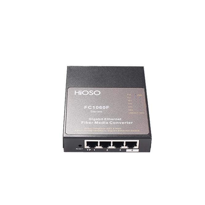 武汉FC1060F两光四电千兆级联光纤收发器