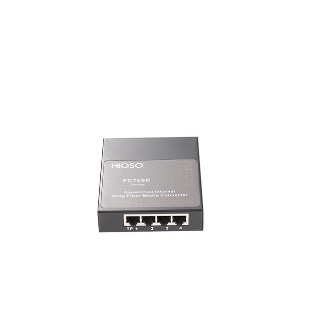 武汉FC760R 两光四电千兆环网光纤收发器