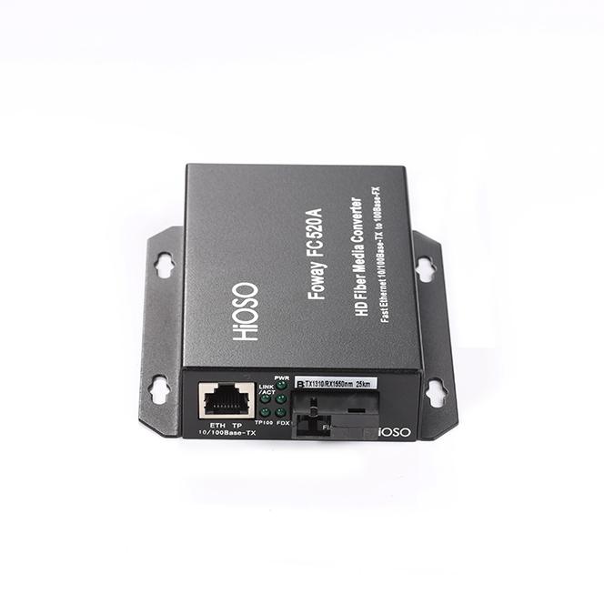 武汉FC520A一光一电百兆高清光纤收发器