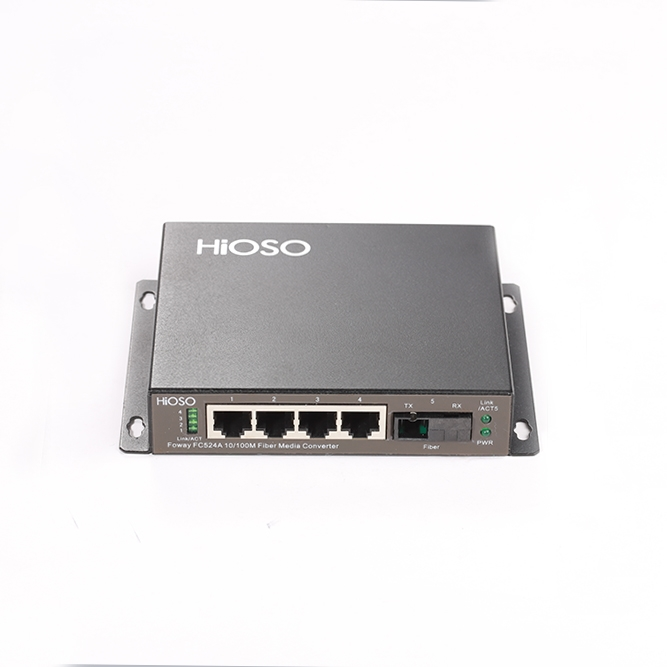 武汉FC524A一光四电百兆高清光纤收发器