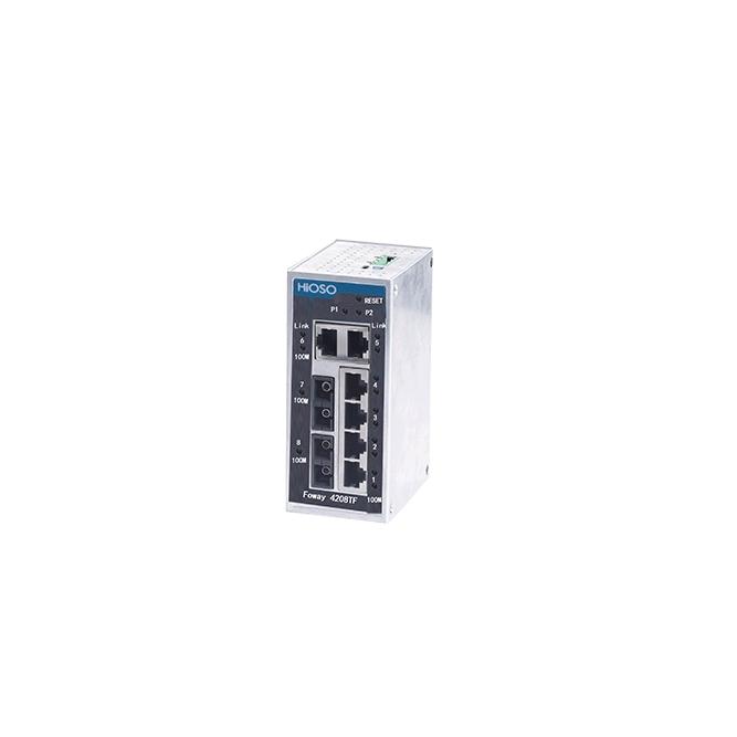 武汉Foway4208TF 6电口+2光口工业以太网交换机